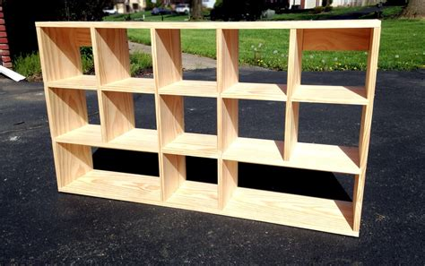 How To Make A Wooden Cube Shelf