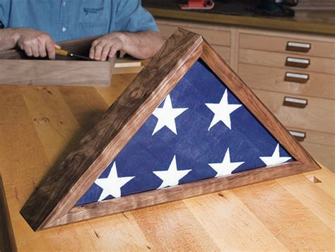 How To Make A Wooden Flag Display Case