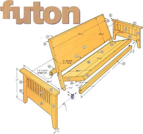 How To Make A Wooden Futon Frame Plans