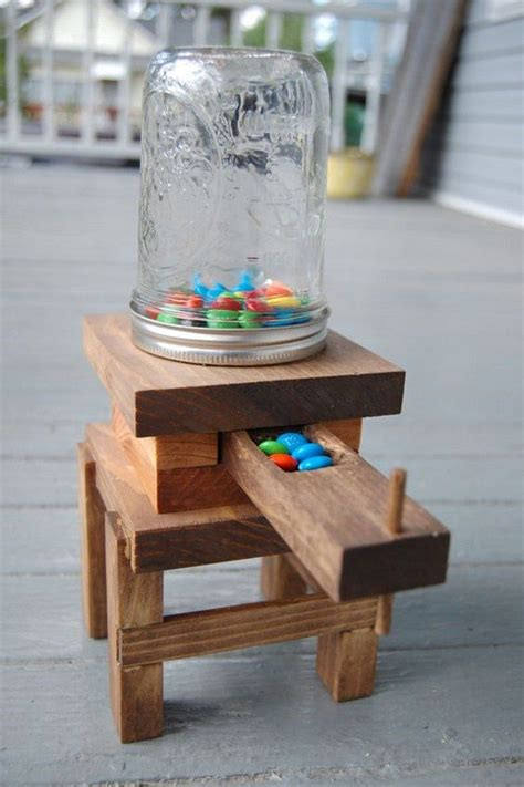 How To Make A Wooden Jelly Bean Dispenser Instructions