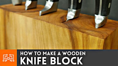 How To Make A Wooden Knife Block Video