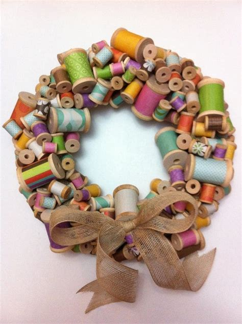 How To Make A Wooden Spool Wreath