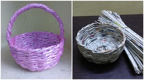 How To Make A Woven Magazine Basket