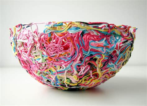How To Make A Yarn Bowl Out Of Fabric