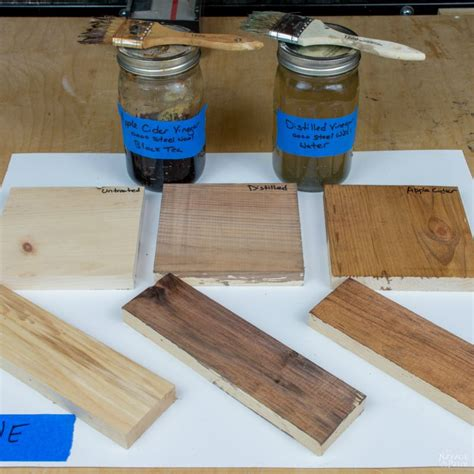 How To Make Aged Wood Using Vinegar