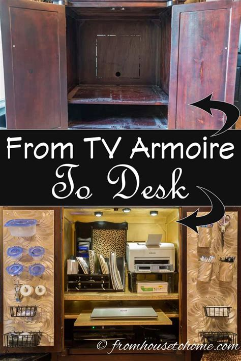 How To Make An Armoire Into A Desk