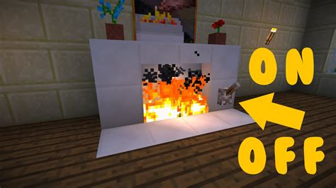 How To Make An Electric Fireplace In Minecraft
