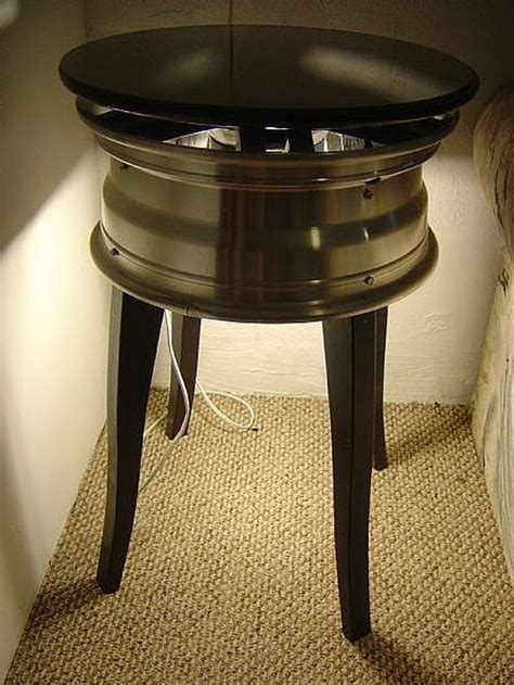 How To Make An End Table From A Wheel Rim