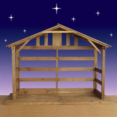 How To Make An Outdoor Nativity Stable Out Of Wood