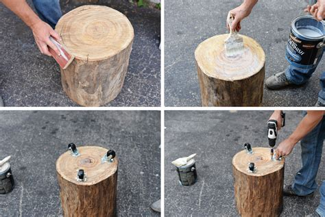 How To Make An Outdoor Table Out Of A Tree Stump