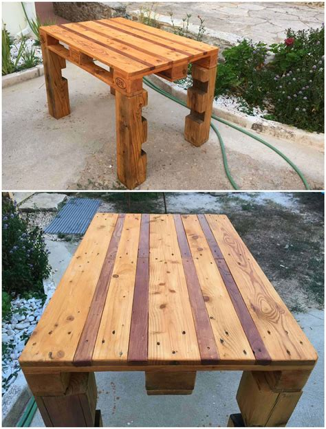 How To Make An Outdoor Table With A Pallet