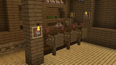 How To Make Bar Stools In Minecraft