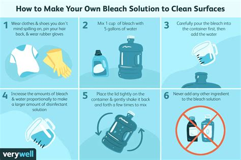 How To Make Bleach Water For Disinfecting