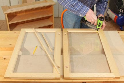 How To Make Cabinet Doors With Glass Panels