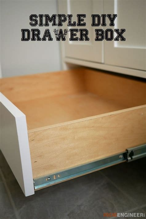 How To Make Cabinet Drawers Boxes