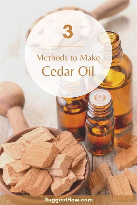 How To Make Cedarwood Oil