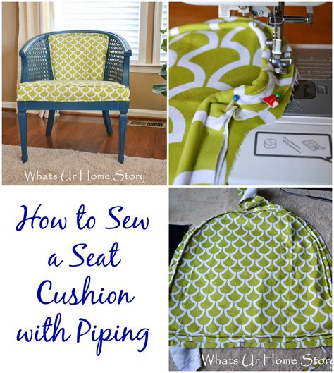 How To Make Chair Cushions With Piping