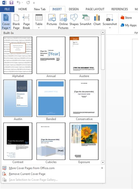 How To Make Cover Page In Word