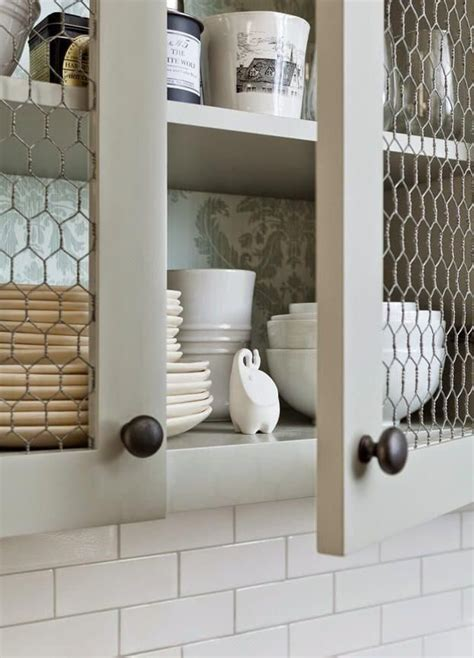 How To Make Cupboard Doors With Chicken Wire