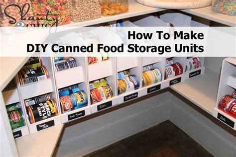 How To Make Diy Canned Food Storage Units
