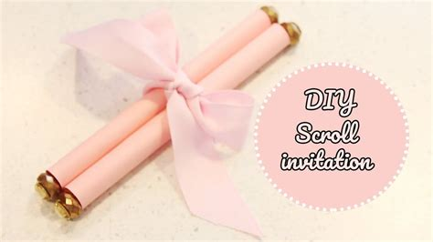 How To Make Diy Scroll Invitations