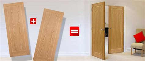 How To Make Double Doors From Two Single Doors