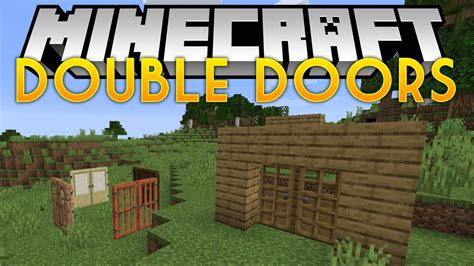 How To Make Double Doors Open At The Same Time Minecraft