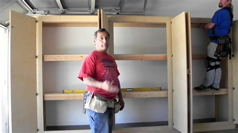 How To Make Garage Cabinets Youtube