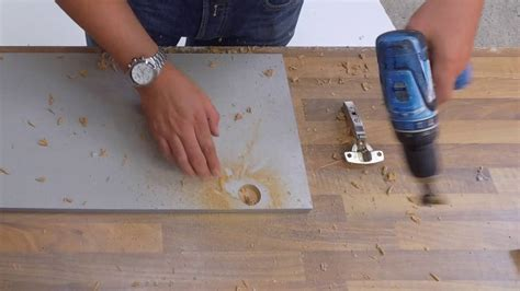 How To Make Hinge Holes In Cabinet Doors