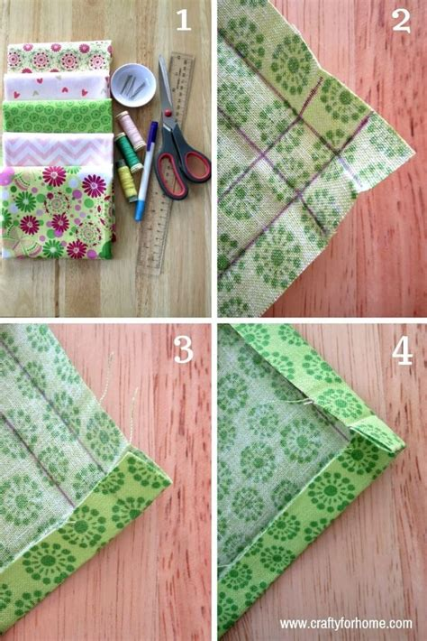 How To Make Mitered Corners Cloth Napkins