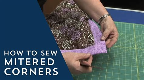 How To Make Mitered Corners On A Blanket