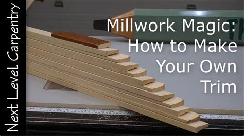 How To Make Mouldings For Trim