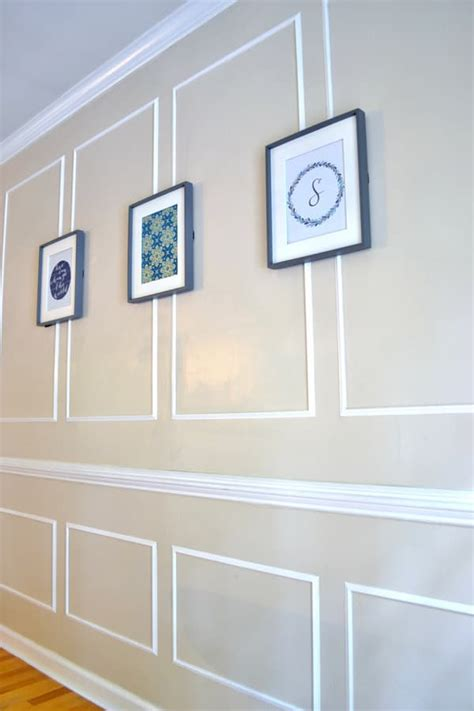 How To Make Picture Frame Molding On Walls