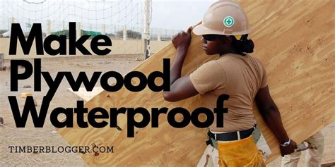 How To Make Plywood Waterproof Youtube