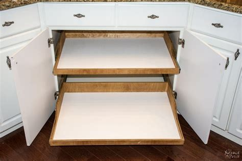 How To Make Pull Out Cabinet Shelves