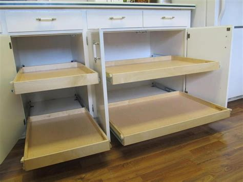 How To Make Pull Out Drawers For Kitchen Cabinets