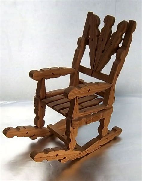 How To Make Rocking Chairs Out Of Clothespins