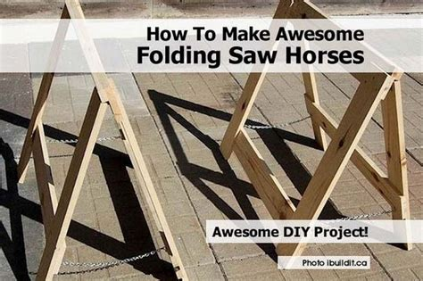How To Make Saw Horses Folding