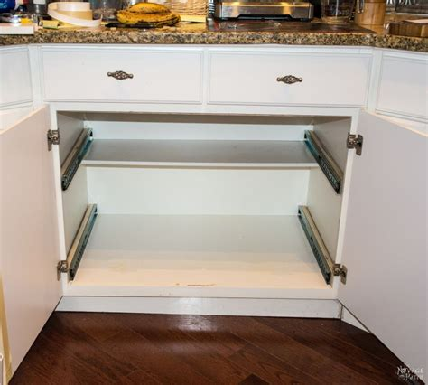 How To Make Slide Out Drawers For Kitchen Cabinets