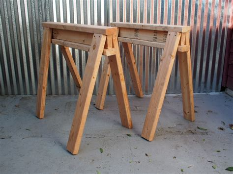 How To Make Stackable Saw Horses