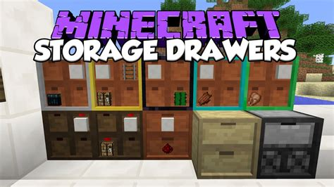 How To Make Storage Drawers In Minecraft