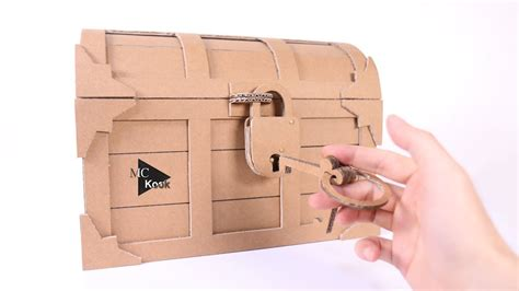 How To Make Treasure Chest With A Lock Cardboard DIY Tv