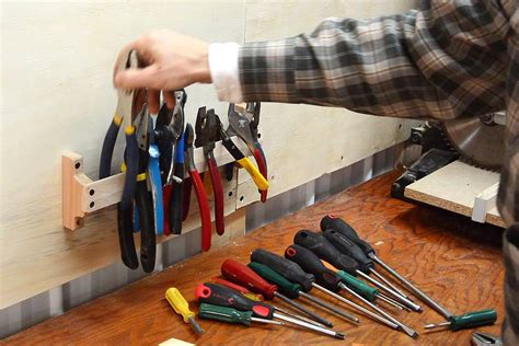 How To Make Wall Tool Holders