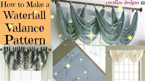 How To Make Waterfall Valance