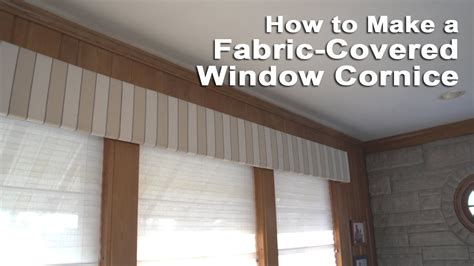 How To Make Window Cornice Fabric