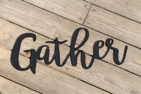 How To Make Wood Cut Out Of Gather Sign