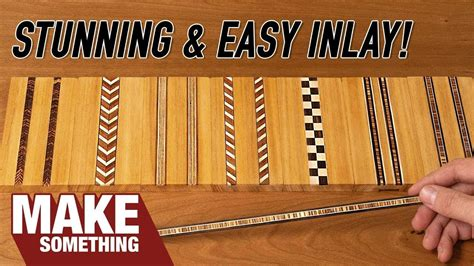 How To Make Wood Inlay Banding Youtube