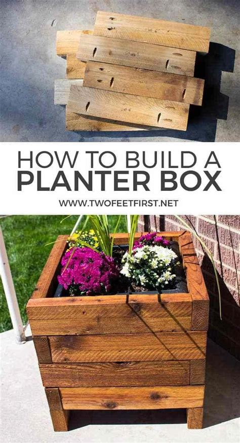 How To Make Wood Square Flower Box