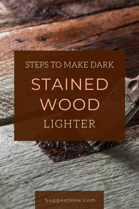 How To Make Wood Stain Lighter After Applied