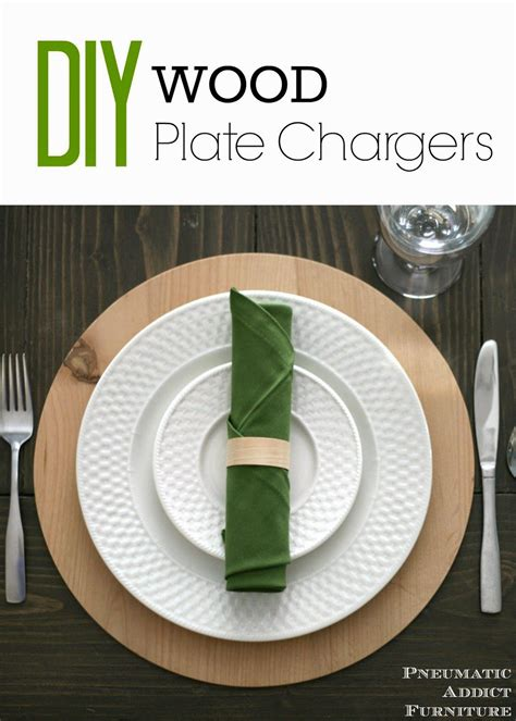How To Make Wooden Charger Plates